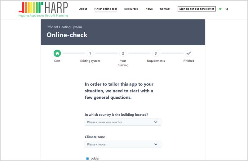 Herramienta online Harp.