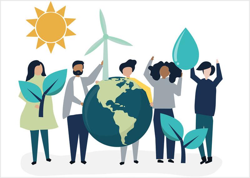 Ilustración comunidad energética local
