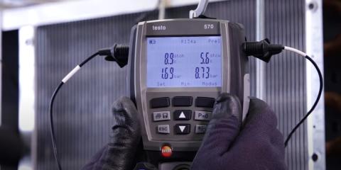 Testo 570: puesta en marcha de un sistema de refrigeración
