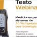 Webinar de Testo 'Mediciones para sistemas de AC/Refrigeración con tecnología digital'