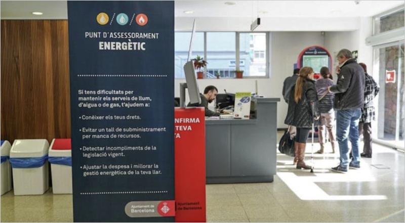 Interior de uno de los puntos de punto de asesoramiento energético de Barcelona