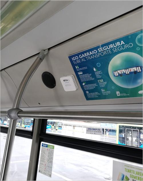 Sistema de Stechome instalado en autobús de de Dbus