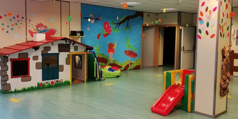 Interior de la escuela infantil Kuttuna Haur Eskola de Irún