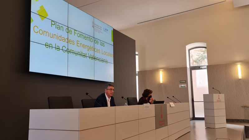 Presentación del Plan de Fomento de las Comunidades Energéticas Locales (CEL) de la Comunidad Valenciana