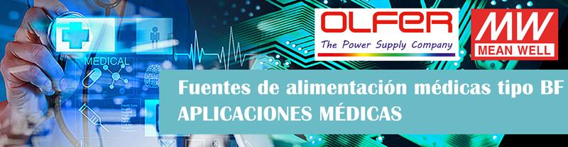 Fuentes de alimentación aplicaciones médicas.