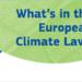 El acuerdo sobre la ley climática de la UE permite avanzar hacia la neutralidad de carbono en 2050