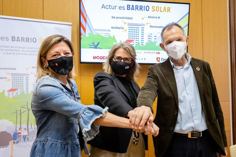 Representantes del Ayuntamiento de Zaragoza, Ecodes y Fundación EDP