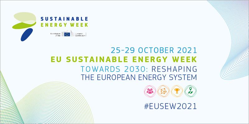 Cartel de la Semana de la Energía Sostenible de la UE 2021