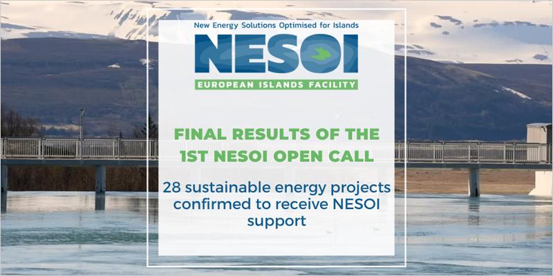 El programa de apoyo legal y financiero NESOI selecciona 28 proyectos de energía sostenible en las islas de la Unión Europea.