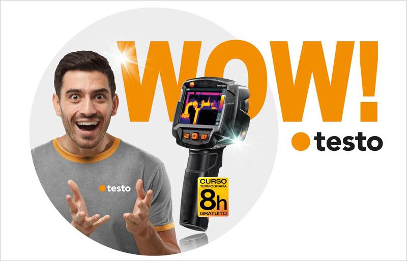 Promoción de la formación gratuita sobre termografía por adquirir una cámara termográfica Testo 868.