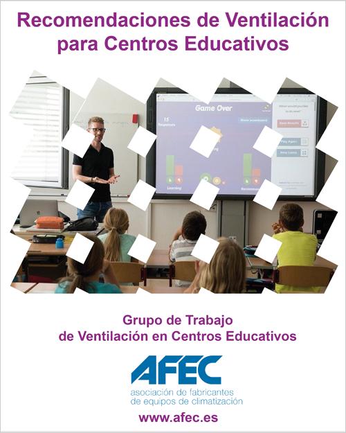 Afec publica un documento con recomendaciones de ventilación en centros educativos.