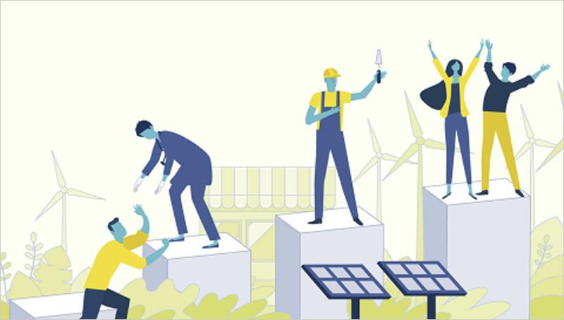 Ilustración de energías renovables