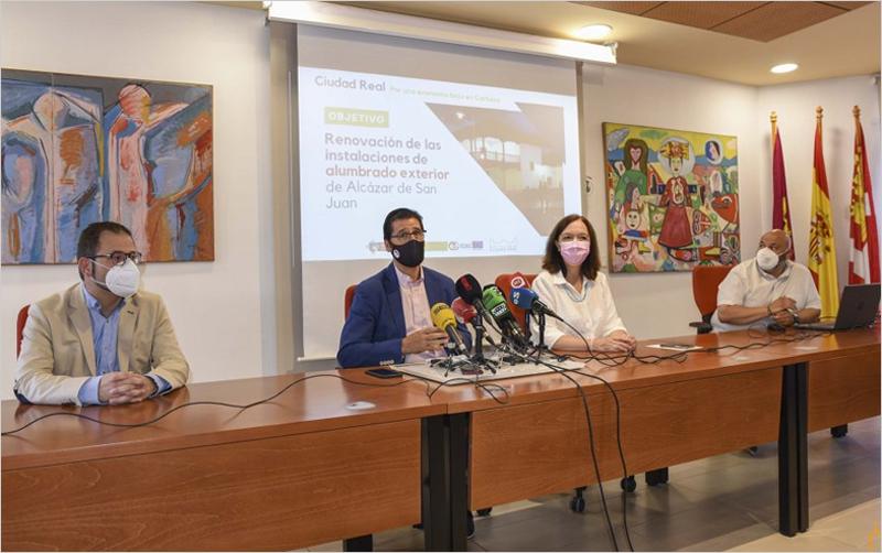 Alcázar de San Juan apuesta por la sostenibilidad con la renovación de su alumbrado exterior gracias al IDAE y la Diputación provincial