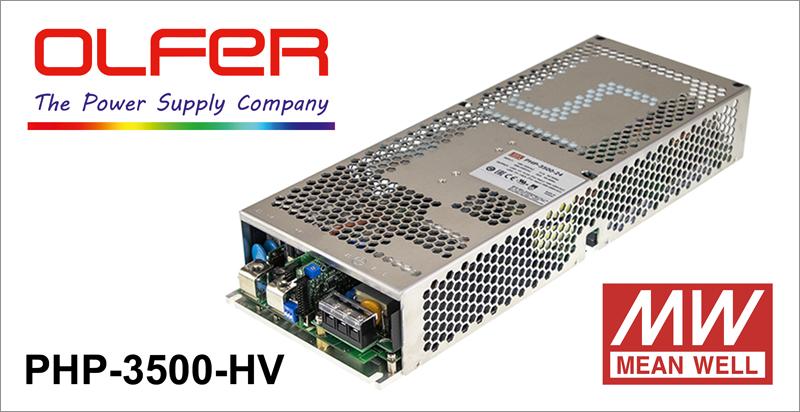 Las nuevas aplicaciones industriales han provocado un aumento en la demanda de fuentes de alimentación con salida de tensión elevada, como la serie PHP-3500-HV