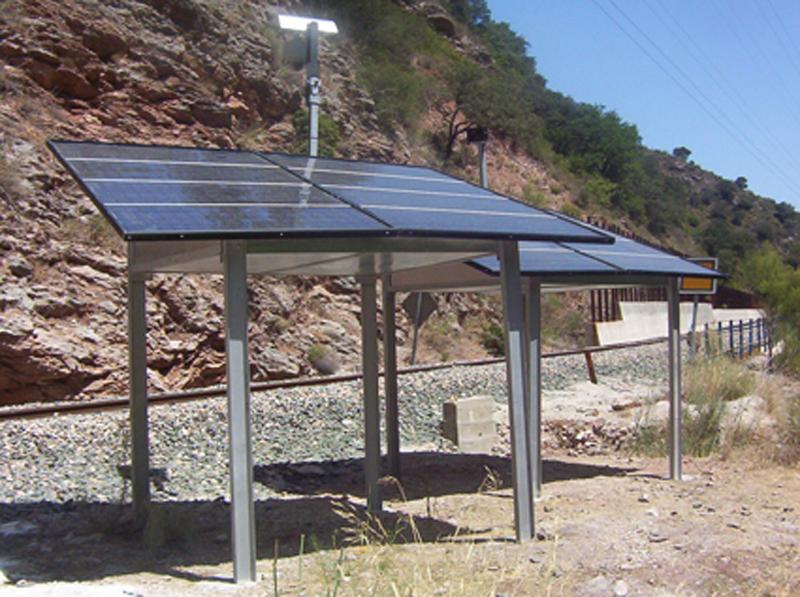 Instalación fotovoltaica en el ámbito ferroviario