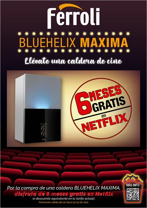 """Ferroli ha lanzado la promoción """"Una caldera de cine"""" para premiar la adquisición de una caldera Bluehelix Maxima."""