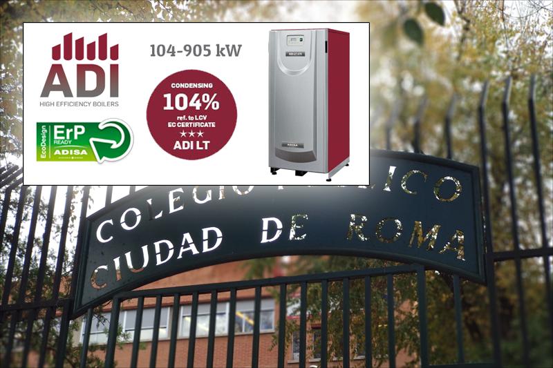 Calderas de Alta Eficiencia Adisa en el Colegio Ciudad de Roma