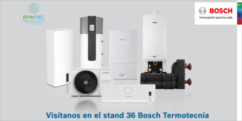 Las soluciones para calefacción, ACS y climatización de Bosch Termotecnia estarán en Efintec