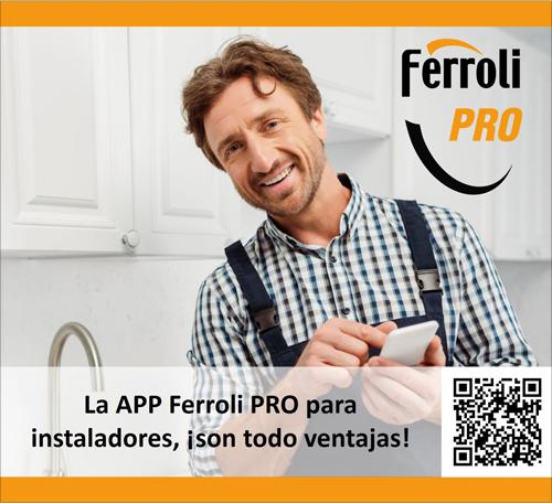 La App Ferroli Pro ofrece más ventajas a los instaladores y sus clientes en el servicio de financiación