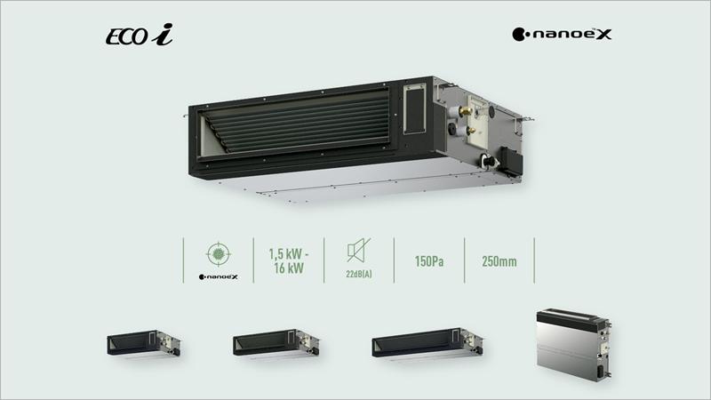 Panasonic presenta las unidades de conducto adaptable para la gama VRF.